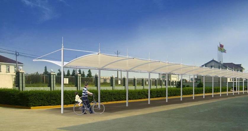 膜结构停车棚 自行车棚1 产品 徐州久泰膜结构停车棚有限公司