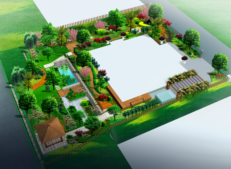 园林苗圃手绘平面图