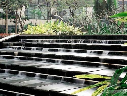 台阶跌水景观手绘