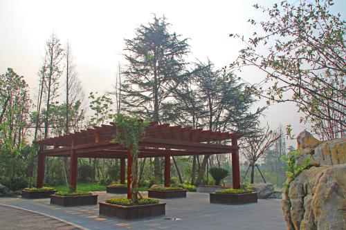 无锡阳山桃博园桃花岛绿化工程