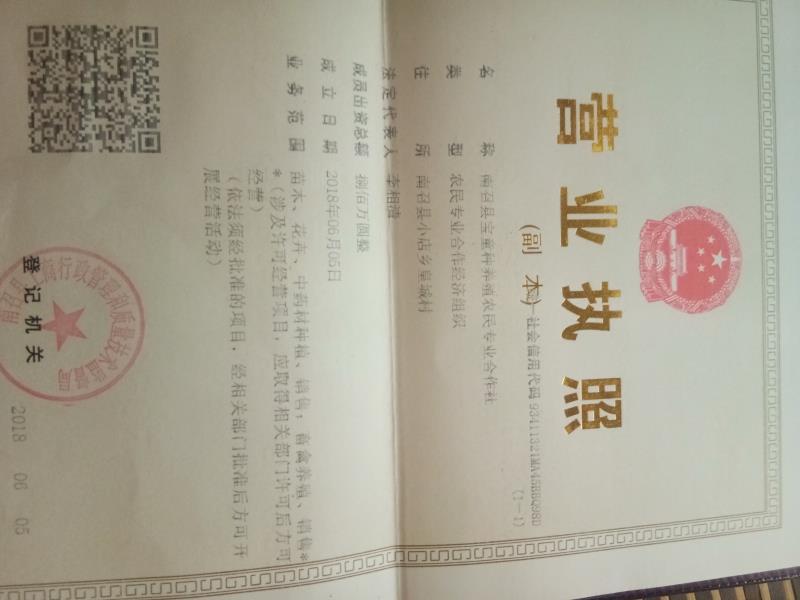 南召县宝童种养殖农民专业合作社