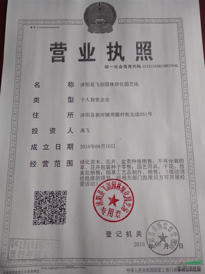 沭阳县飞创园林绿化园艺场