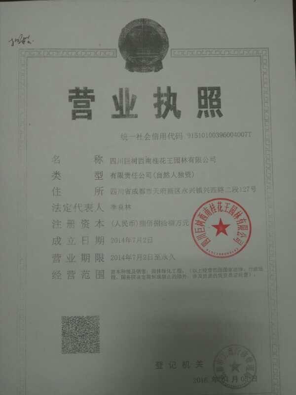 四川巨树西南桂花王园林有限公司