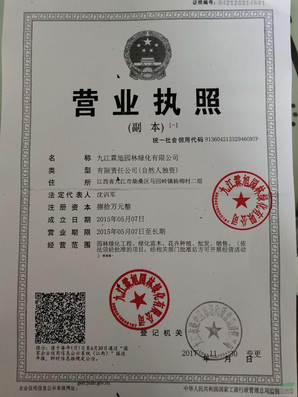 九江霖旭园林绿化有限公司