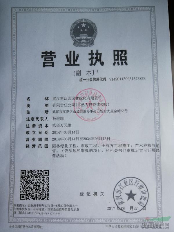 武汉丰沃园园林绿化有限公司