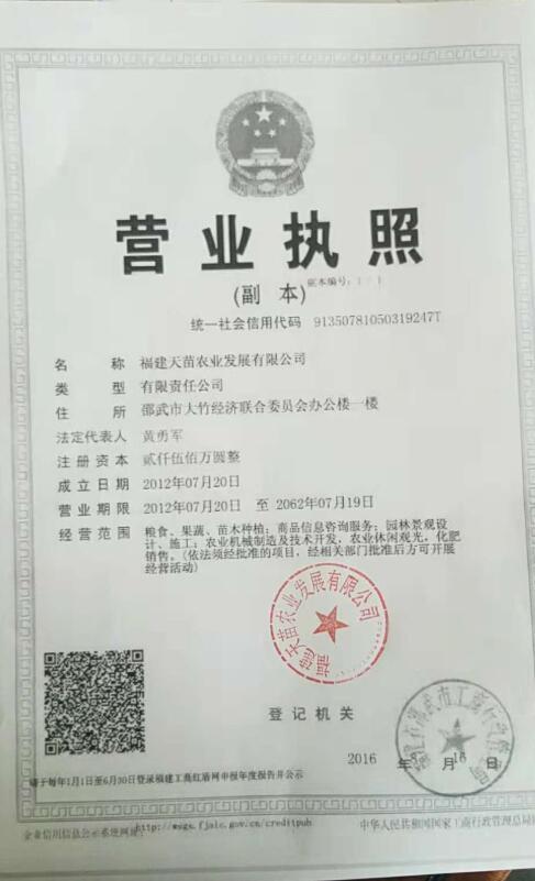 福建天苗农业发展有限公司