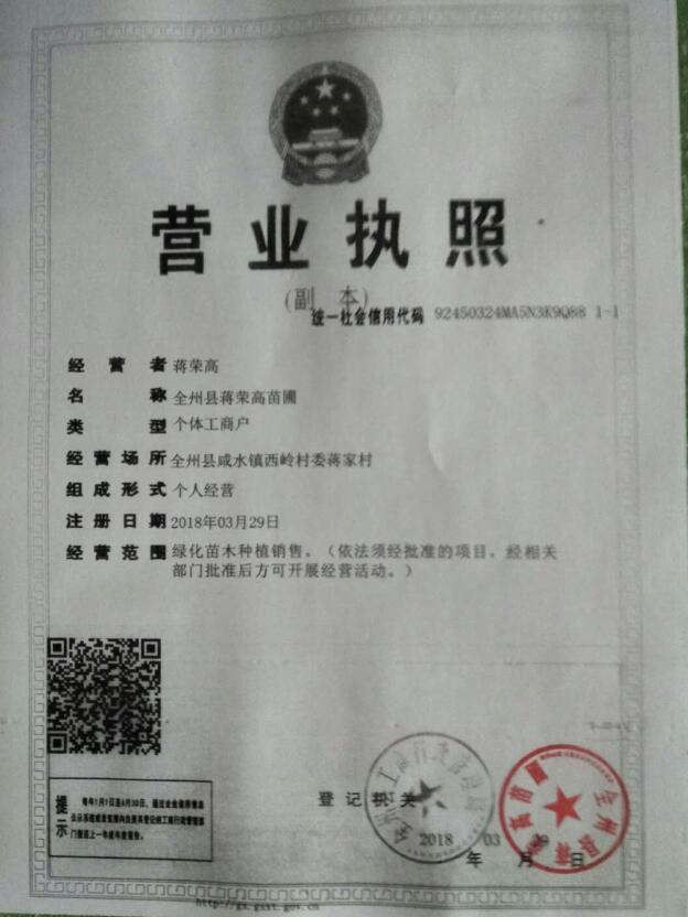 全州县蒋荣高苗圃