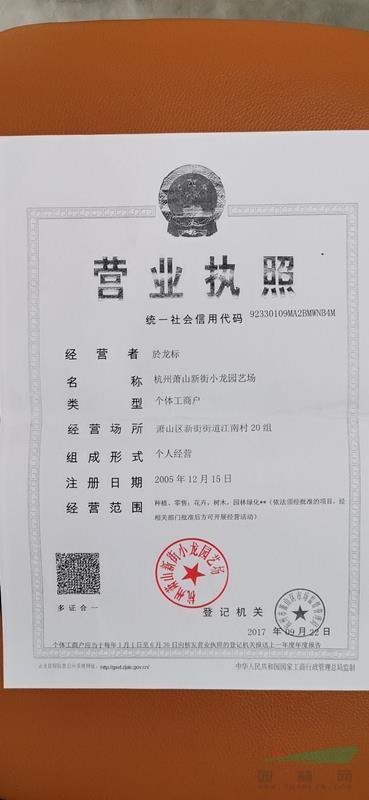 杭州萧山新街小龙园艺场