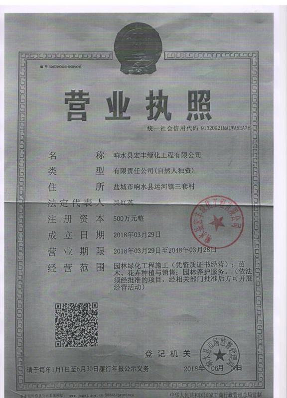 响水县宏丰绿化工程有限公司