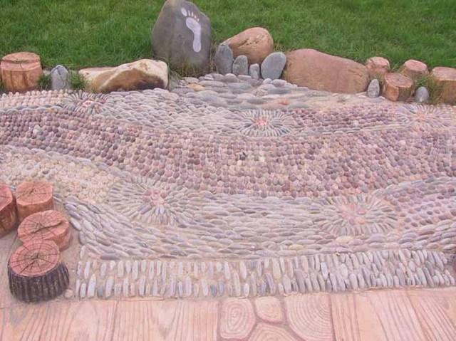 碎拼大理石图案_各类铺装材料在景观中的应用
