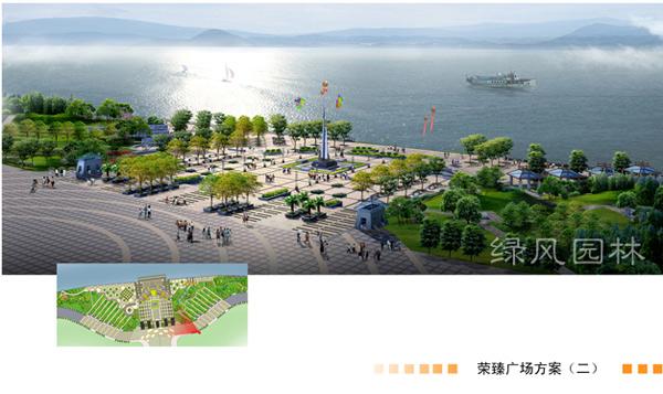 江公园东段景观绿化设计效果图 园林设计 园林学习网 最好的园林人