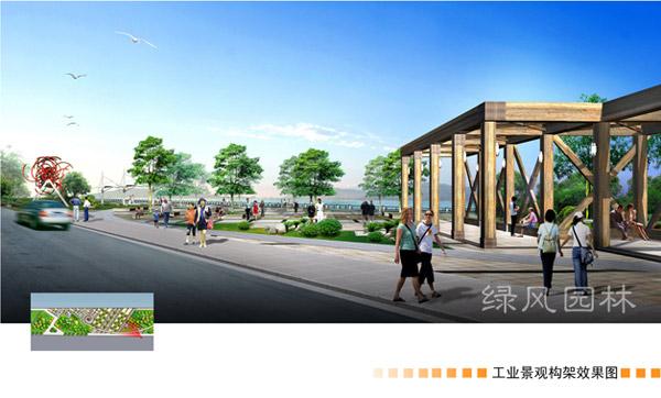 江津市滨江公园东段景观绿化设计效果图 园林设计 园林学习网 最好的