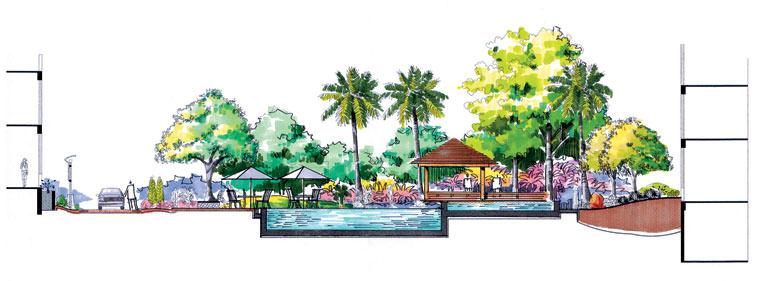 游泳池剖面图