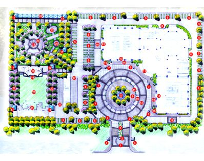 设计作品 城市公共绿地景观设计