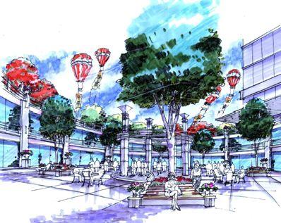 北京清华同方科技广场景观设计