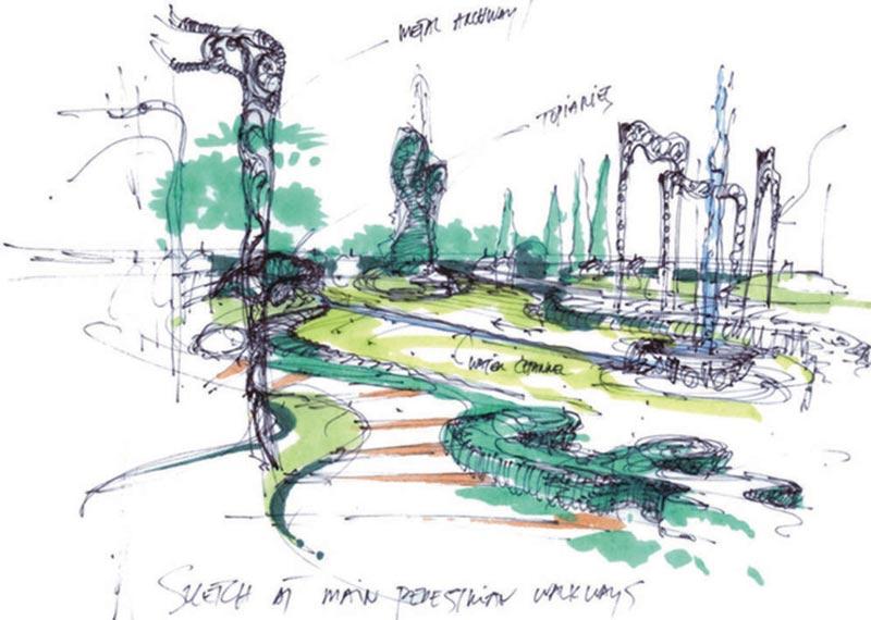 杭州野生动物园手绘图