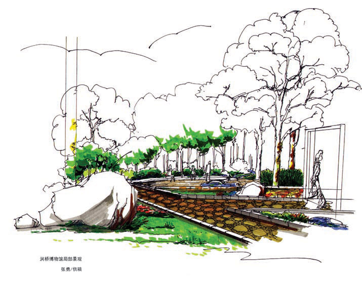 润桥博物馆局部景观设计
