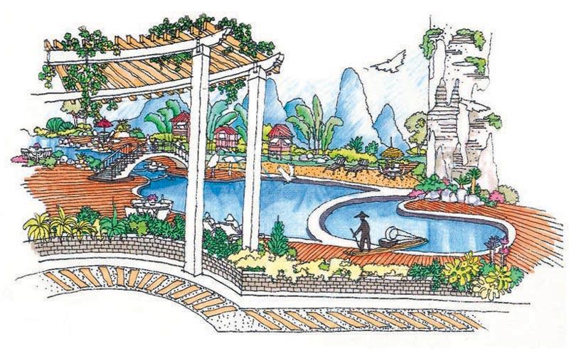 [手绘图展]深圳嘉多利花园手绘效果图 - 手绘效果图