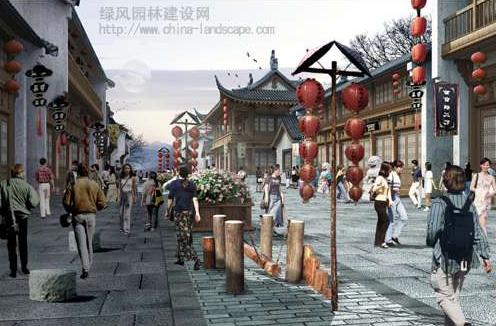 农村商业街设计图 建筑设计   仿古街摄影图   以具有新中式