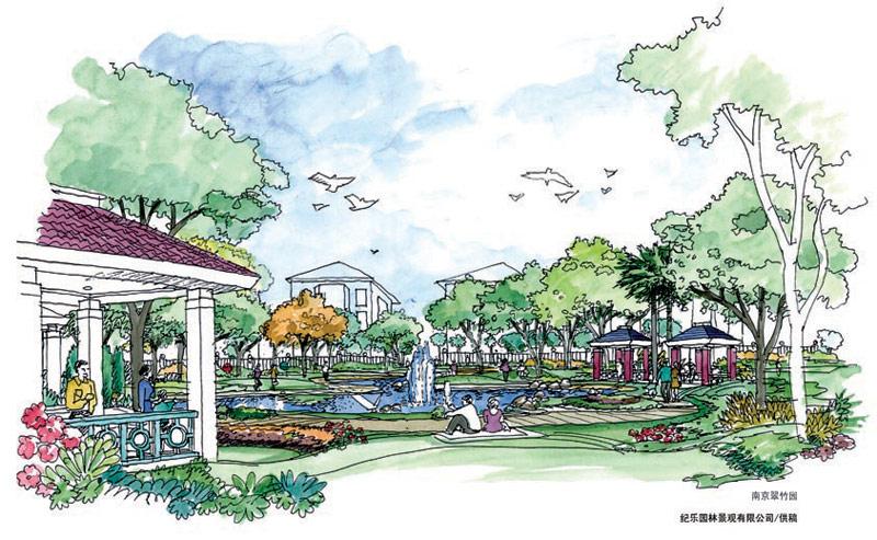 设计作品 居住区景观设计 >> 正文   设计单位:纪乐园林
