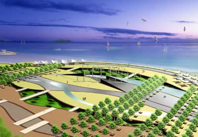 青岛沙子口广场景观设计