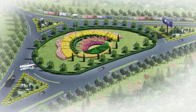 怀柔101国道环岛整体道路景观设计