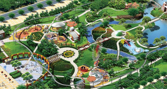 老年公园平面设计图; [方案实例]龙口城市中央公园