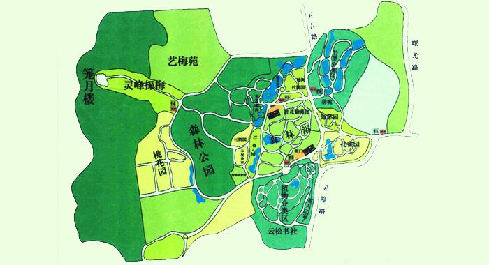 园林景观植物平面图_植物园景观设计规划——中国园林网