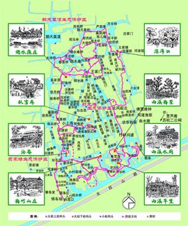 浙大西溪校区手绘地图